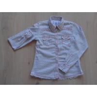 Pepe Jeans blouse wit zwarte stipjes maat 146 - 152