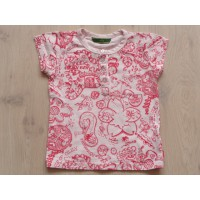 Oilily T-shirt roze rode all over print maat 104