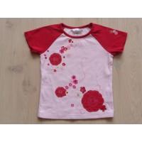 H&M T-shirt roze rood bloemen maat 104