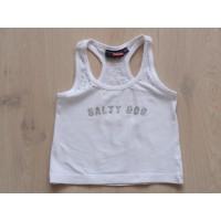 Salty Dog wit singlet stras maat 104