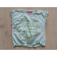 Name it T-shirt mintgroen felgroene tekst maat 104