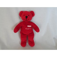 Sunkid knuffel beer rood Austria Oostenrijk 23 cm