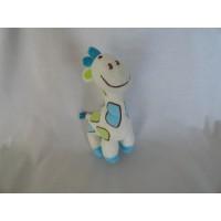 Happy Horse knuffel giraf ecru lime blauw 20 cm