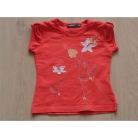 Mexx T-shirt oranje bloemen maat 98 - 104