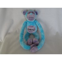 Evora knuffel aap blauw lila dapper 34 cm