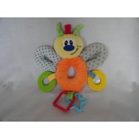 Sunkid vlinder knuffel bijt speelgoed 25 x 21 cm