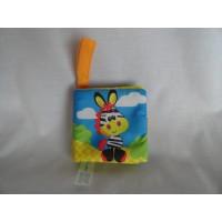 Bambino buggyboekje dieren parachutestof 10 x 10 cm