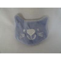 Knisperdoekje poes dolfijnblauw 8 cm