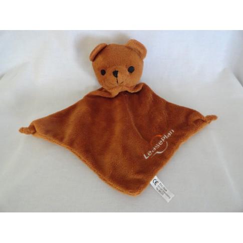 Leaseplan knuffeldoekje beer bruin 26 cm