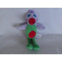 Eye Dolls knuffel vogel velours lila groen rood blauw 26cm