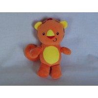 Fischer Price knuffel leeuw geel oranje rammel 17 cm