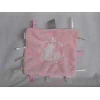 BamBam knuffeldoek labeldoek pluche roze eend Duck 20 cm