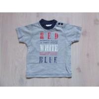 Baby Balloo grijs T-shirt met tekst mt. 62