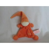 Tiamo De Kandeel lappenpopje tutpopje badstof oranje 26 cm