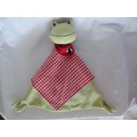 Ikea Knuffeldoek kikker Fabler Groda groen 35 cm