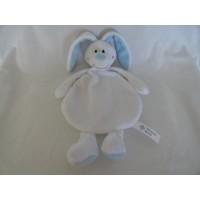 Zilveren Kruis knuffeldoek konijn velours wit 26 cm