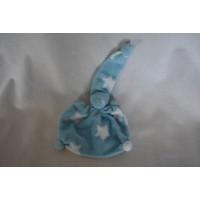 Pietiesoriginals tuttelpopje badstof blauw sterren 18 cm