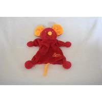 Tiamo De Kandeel tutpopje lappenpopje muis rood geel 20 cm