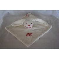Babyplanet knuffeldoek konijn badstof ecru babyspul 22 cm
