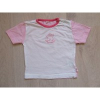 "Roze/witte t-shirt ""baby elephant"" mt. 62"