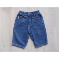 HEMA jeansbroek bruine stiksels mt 68