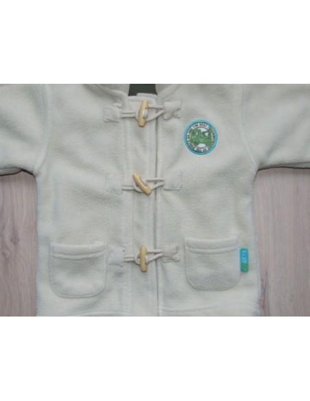 Winterjas fleece beige capuchon mt 68