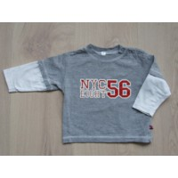 "Grijs gemèleerde longsleeve ""NYC Eight 56"" mt 74"