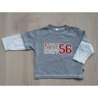 """Grijs gemèleerde longsleeve """"NYC Eight 56"""" mt 74"""